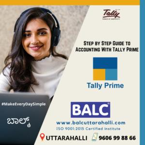 TallyPrime at Uttarahalli computer training centre tally training centre balc uttarahalli